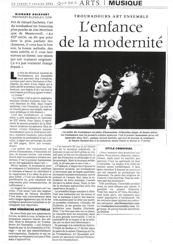 2004 - Le Journal de Québec