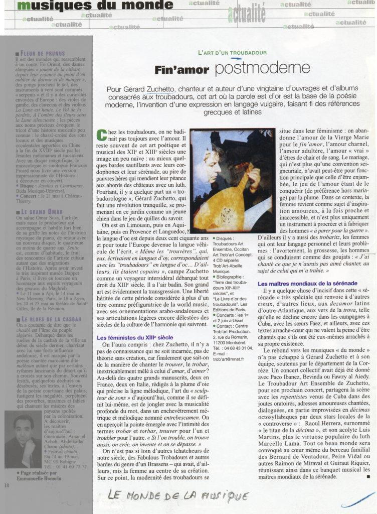 2007 - Le monde de la musique