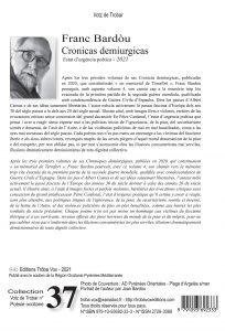 Votz 37 , Franc Bardou, Cronicas demiurgicas